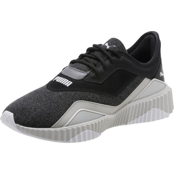 Defy Stitched Z Women's Training Shoes, Puma Black-Glacier Gray, large