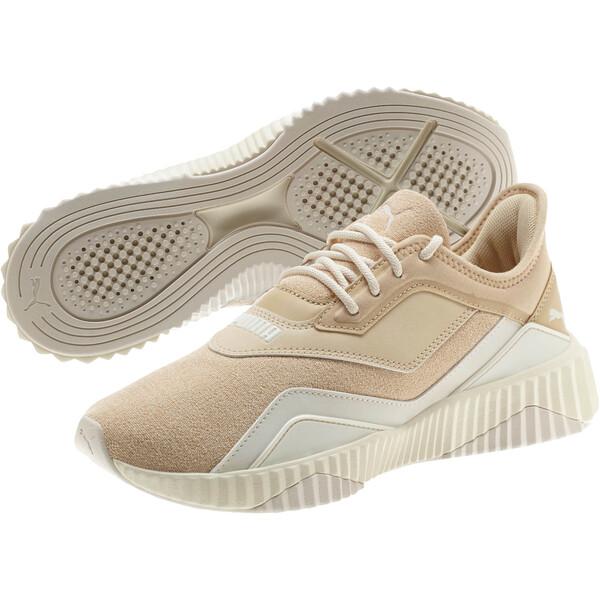 Defy Stitched Z Women's Training Shoes, Pebble-Whisper White, large