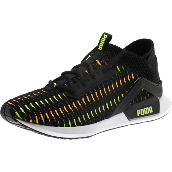 Rogue Corded Men's Sneakers, Puma Black-Orange Pop, large