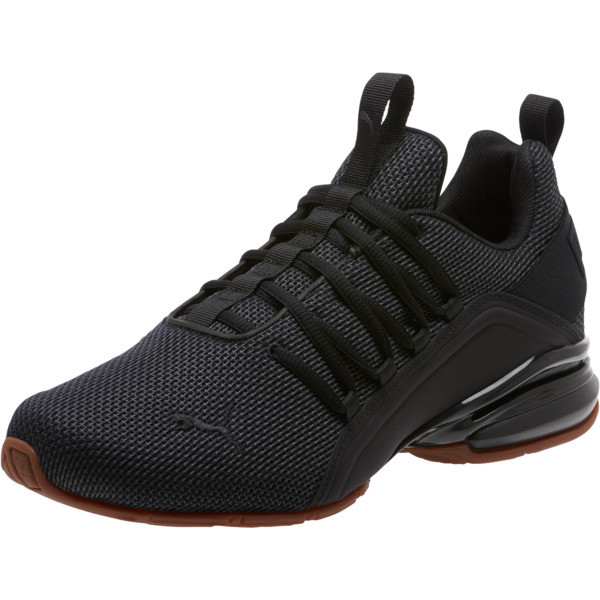 Axelion Mesh Men's Training Shoes, Puma Black, large