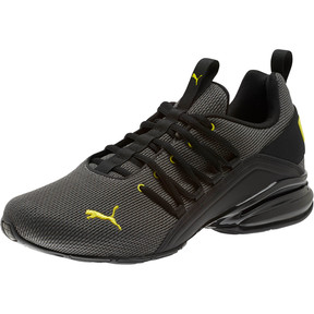 Thumbnail 1 of Axelion Mesh Men's Training Shoes, Charcoal Gray-Blazing Yellow, medium