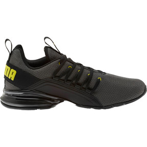 Thumbnail 4 of Axelion Mesh Men's Training Shoes, Charcoal Gray-Blazing Yellow, medium