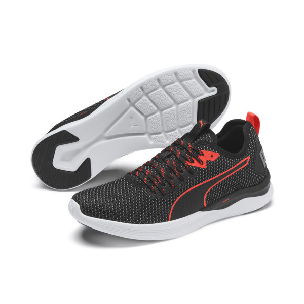 IGNITE Flash FS Men's Running Shoes, Puma Black-Nrgy Red, large