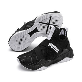 Thumbnail 3 of Defy Mid Core Women's Trainers, Puma Black-Puma White, medium