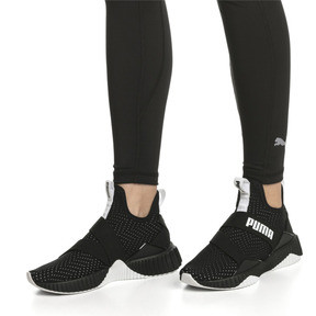 Thumbnail 2 of Defy Mid Core Women's Trainers, Puma Black-Puma White, medium
