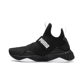 Thumbnail 1 of Defy Mid Core Women's Trainers, Puma Black-Puma White, medium