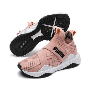 Thumbnail 3 of Defy Mid Core Women's Trainers, Peach Bud-Puma White, medium