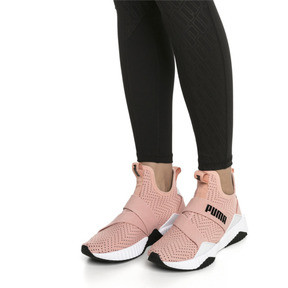 Thumbnail 2 of Basket Defy Mid Core pour femme, Peach Bud-Puma White, medium