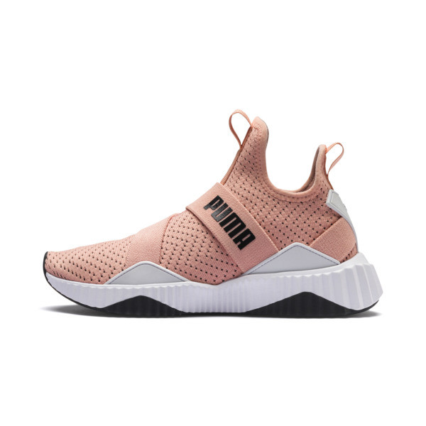 Defy Mid Core Women's Trainers, Peach Bud-Puma White, large