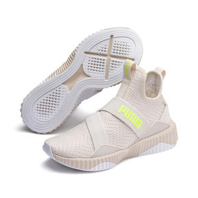Miniatura 3 de Zapatos de entrenamientoDefy MidCore para mujer, Pastel Parchment-Puma White, mediano