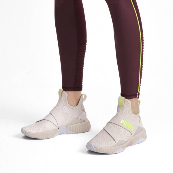 Zapatos de entrenamientoDefy MidCore para mujer, Pastel Parchment-Puma White, grande