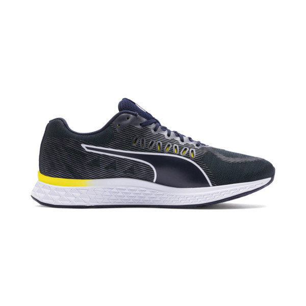 SPEED SUTAMINA Running Shoes, Peacoat-Blazing Yellow-White, large