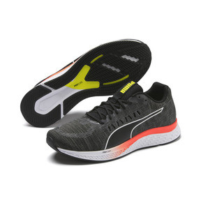 Thumbnail 3 of SPEED SUTAMINA Running Shoes, Black-CASTLEROCK-Yellow-Red, medium