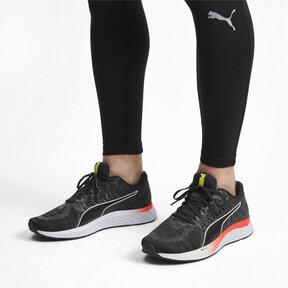 Thumbnail 2 of SPEED SUTAMINA Running Shoes, Black-CASTLEROCK-Yellow-Red, medium