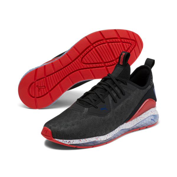 Cell Descend Shift Men's Sneakers, Puma Black-Red-Surf The Web, large