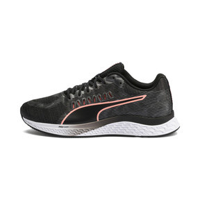 Thumbnail 1 of Speed Sutamina Women's Running Shoes, Puma Black-Gray-Peach, medium