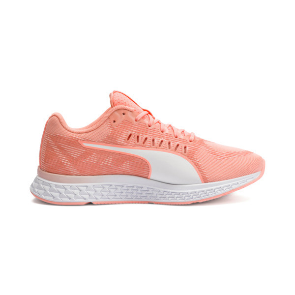 Speed Sutamina Women's Running Shoes, Bright Peach-Peach Bud-White, large