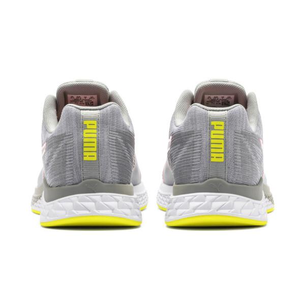 SPEED Sutamina Women's Running Shoes, Quarry-Yellow Alert-Pink, large