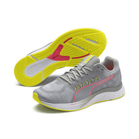 Thumbnail 3 of Speed Sutamina Women's Running Shoes, Quarry-Yellow Alert-Pink, medium