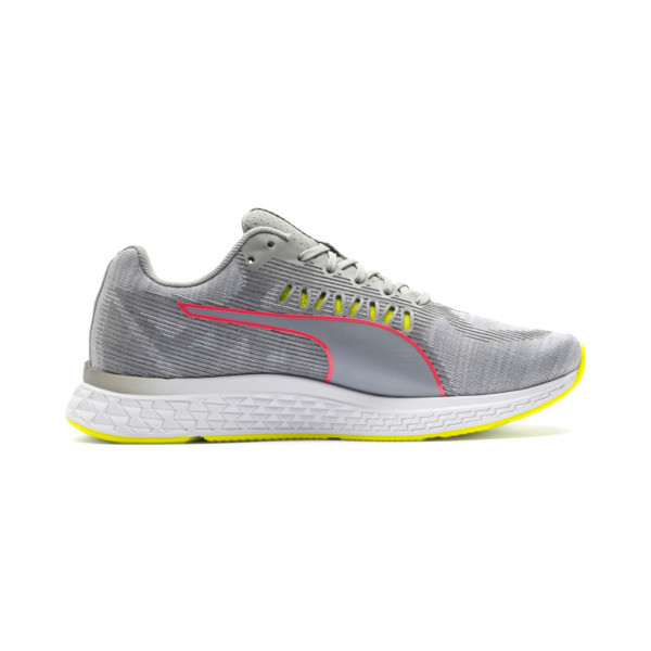 Speed Sutamina Women's Running Shoes, Quarry-Yellow Alert-Pink, large