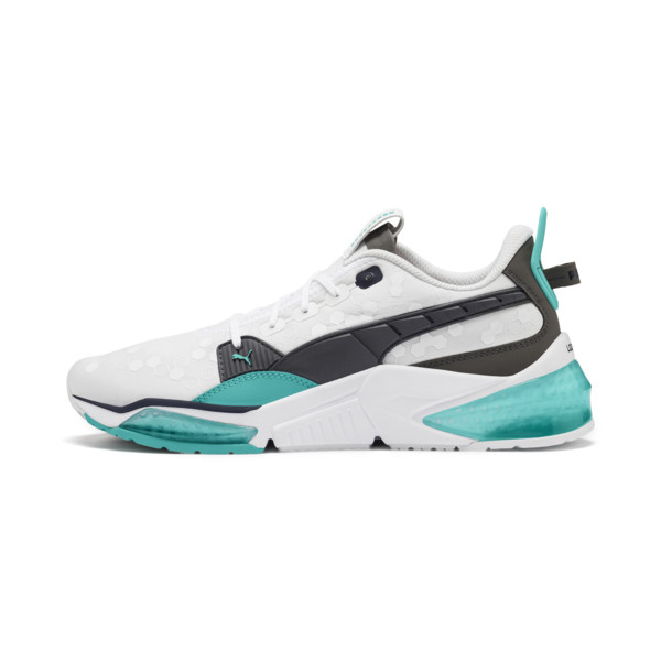 LQDCELL Optic trainingsschoenen, Puma White-blauw turquoise, large