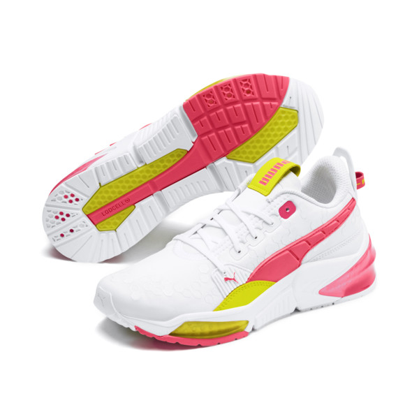 LQDCELL Optic Training Shoes, Puma White-Y Alert-Pin Alert, large