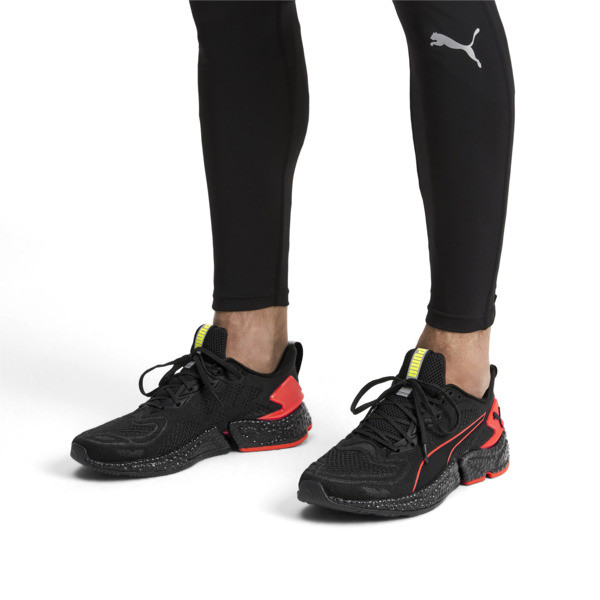 HYBRID SPEED Orbiter Men's Running Shoes, Black-Nrgy Red-Yellow, large