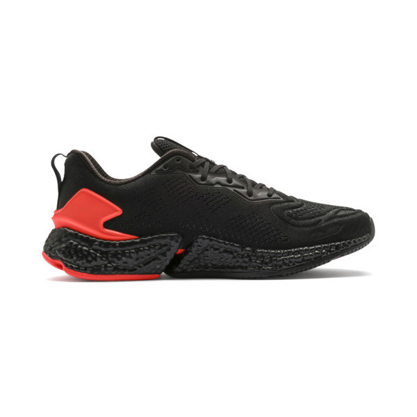 SPEED Orbiter Men's Running Shoes, Black-Nrgy Red-Yellow, large