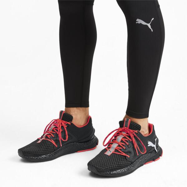 HYBRID Sky Men's Running Shoes, Black-White-Nrgy Red, large