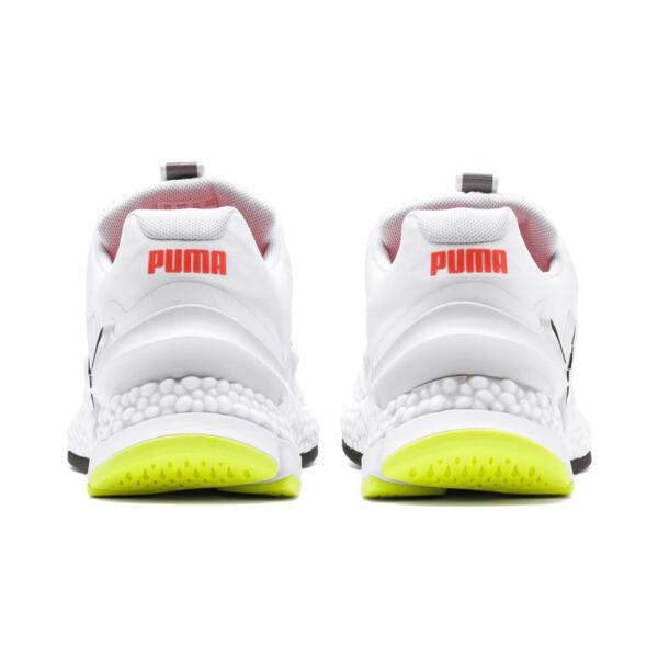 Zapatos para correr HYBRID Sky para hombre, White-Black-Nrgy Red, grande
