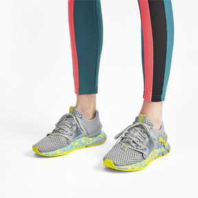 Thumbnail 3 of HYBRID Sky Women's Running Shoes, Quarry-Yellow Alert, medium