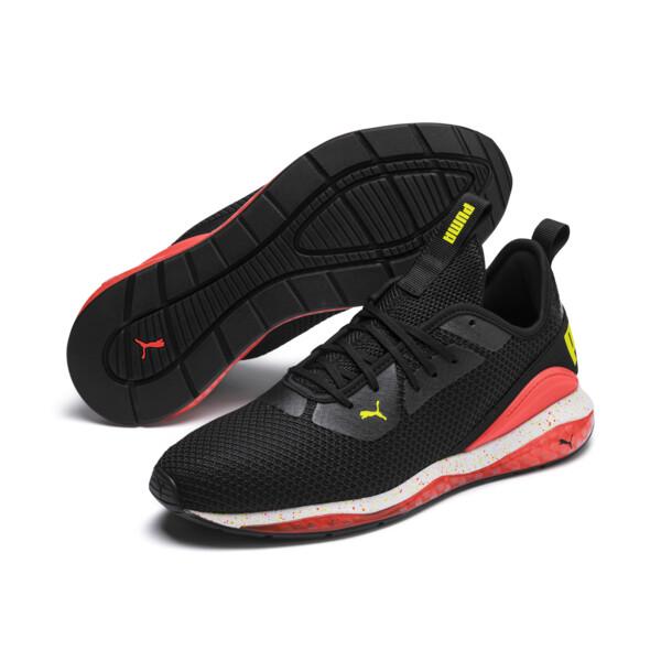 Zapatos de entrenamiento CELL Descend Weave para hombre, Black-Nrgy Red-Yellow Alert, grande