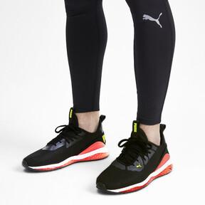 Miniatura 3 de Zapatos de entrenamiento CELL Descend Weave para hombre, Black-Nrgy Red-Yellow Alert, mediano