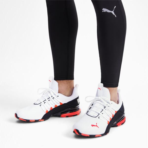 Axelion Rip Men's Training Shoes, White-Black-Nrgy Red, large