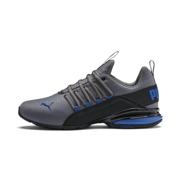 Zapatos de entrenamiento Axelion Rip para hombre, CASTLEROCK-Black-Galaxy Blue, grande