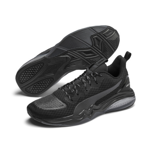 LQDCELL Tension Men's Training Shoes, Puma Black-Nrgy Red, large