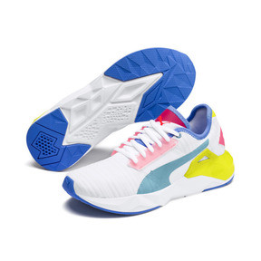 Thumbnail 3 of CELL Plasmic Women's Training Shoes, White-YellowAlert-Milky Blue, medium
