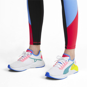 Thumbnail 2 of CELL Plasmic Women's Training Shoes, White-YellowAlert-Milky Blue, medium