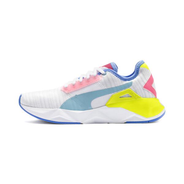 CELL Plasmic Women's Training Shoes, White-YellowAlert-Milky Blue, large