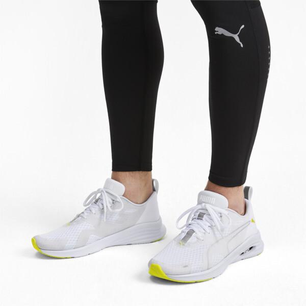 HYBRID Fuego Lights Men's Running Shoes, Puma White-Yellow Alert, large