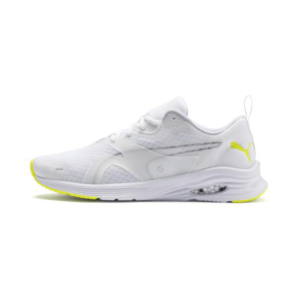 Zapatillas de running de hombre HYBRID Fuego, Puma White-Yellow Alert, grande