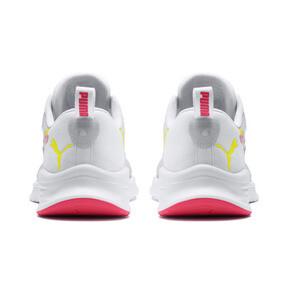 Miniatura 3 de Zapatos para correr HYBRID Fuego para mujer, White-PinkAlert-YellowAlert, mediano