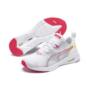 Miniatura 2 de Zapatos para correr HYBRID Fuego para mujer, White-PinkAlert-YellowAlert, mediano