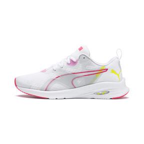 Miniatura 1 de Zapatos para correr HYBRID Fuego para mujer, White-PinkAlert-YellowAlert, mediano