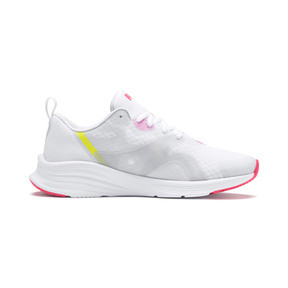 Miniatura 5 de Zapatos para correr HYBRID Fuego para mujer, White-PinkAlert-YellowAlert, mediano