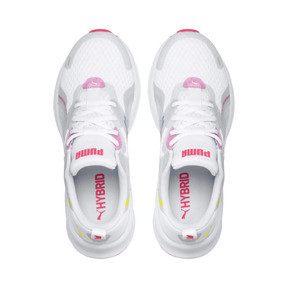 Miniatura 6 de Zapatos para correr HYBRID Fuego para mujer, White-PinkAlert-YellowAlert, mediano