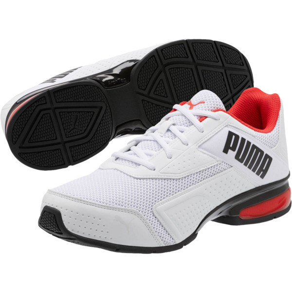 Leader VT Bold Training Shoes, Puma Wht-Hgh Rsk Rd-Pma Blk, large