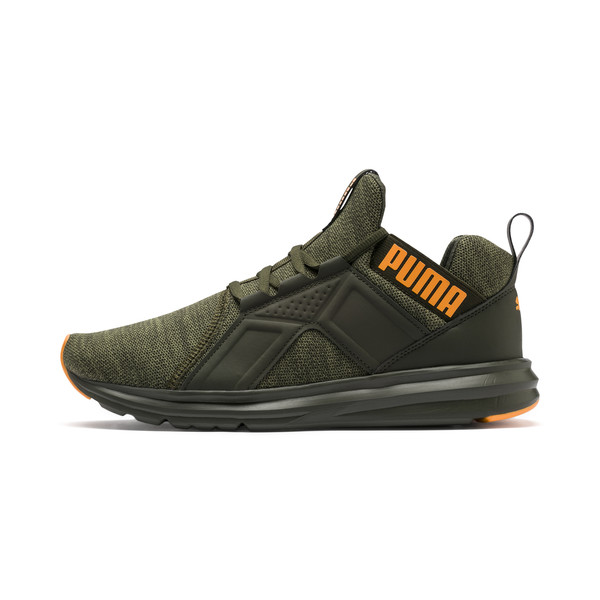 Enzo Men's Trainers, Forest Night-Olivine, large
