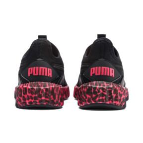 Thumbnail 4 of Defy Leopard Women's Sneakers, Puma Black-Pink Alert, medium
