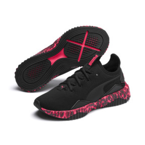 Thumbnail 2 of Defy Leopard Women's Sneakers, Puma Black-Pink Alert, medium